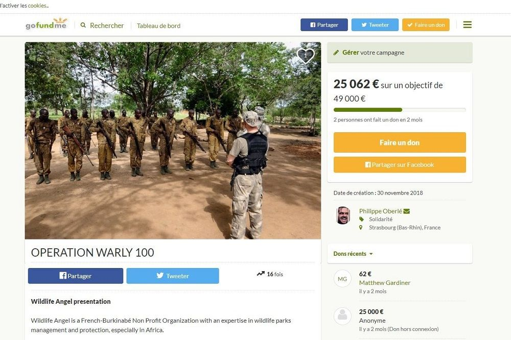 Page de campagne crowdfunding GoFundMe